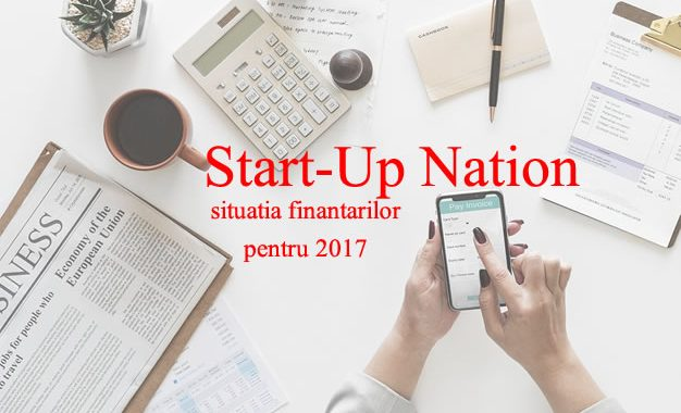 Start Up Nation Situatie Finantari