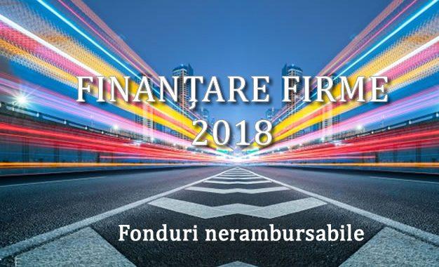 Finantari IMM : Programul Microindustrializare 2018