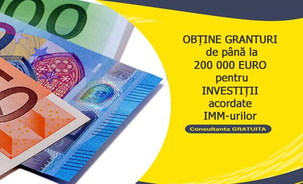 Măsura 3 –Granturide 50.000-200.000 Euro Pentru IMMîncepând De La Sfârșitul Lunii Noiembrie